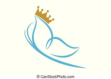 queen butterfly abstract logo