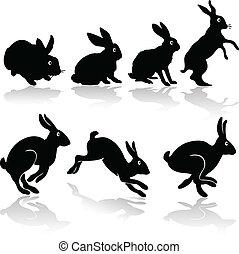 rabbit job silhouettes