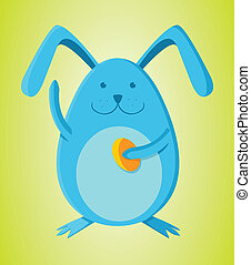 Rabbit with egg