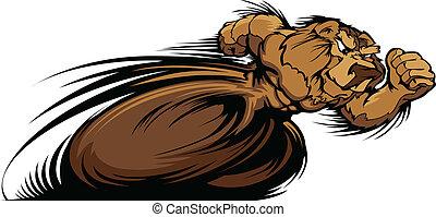 Racing Bear Mascot Graphic Vector I