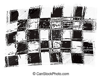Checkered flag created in grunge style