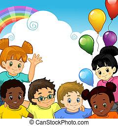 Rainbow Children together