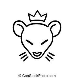 Rat king head