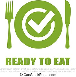 Ready to eat vector icon