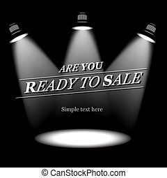 Ready to sale fashion background, vector Eps10 image.