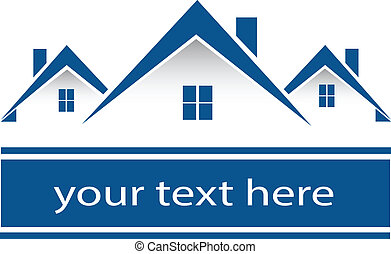 Real estate houses company logo