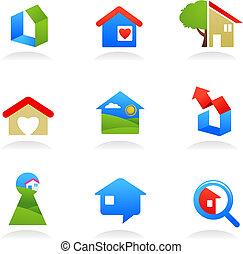 Real estate icons / logos