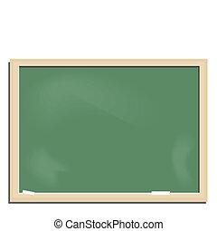 Realistic illustration school blackboard
