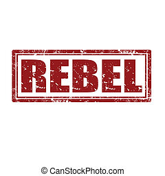 Grunge rubber stamp with word Rebel, vector illustration