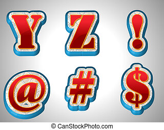 Letters are in vector format, 3D Emboss Double Layer in red color and pattern stroke