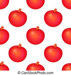 Red Apple Fruit Seamless pattern Background. Vector