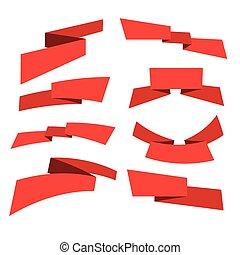 red banner set