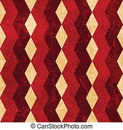 Red beige rhombus grunge background