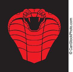 red black cobra