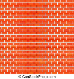 An illustration of a brick wall as background.