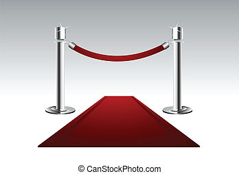 Vector illustration of a luxury red carpet with rope