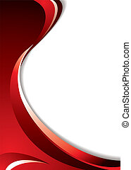 Shades of red background with flowing lines and room to add your text