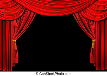 Red Draped Stage Background
