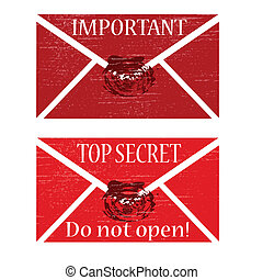 Red envelope with seal