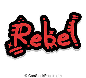 Creative design of red rebel