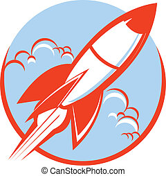 Icon of a red rocket