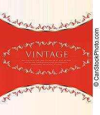 red-white vintage background