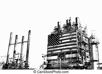 A part of a US refinery complex