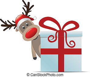 reindeer christmas gift box with re