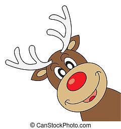 Reindeer wishing Merry Christmas