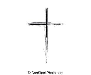 simple grunge design of a religious cross symbol