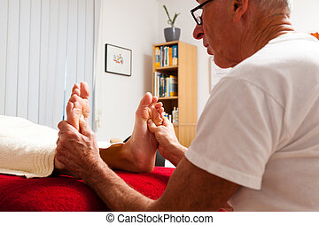 relaxation, peace and well-being through massage. reflexology
