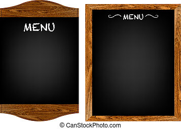 2 Restaurant Menu Boards With Gradient Mesh, Isolated On White Background, Vector Illustration