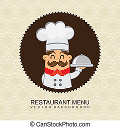 restaurant menu over beige background. vector illustration