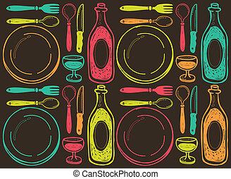 restaurant vintage background