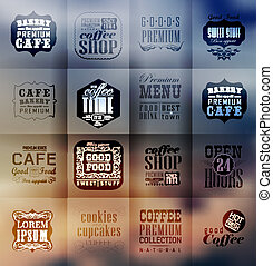 Retro bakery labels and typography
