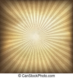 Retro brown sunburst background. Vector illustration, EPS10.