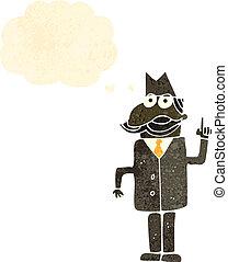 retro cartoon private detective