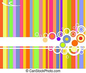 vector illustration of colorful stripes and circles