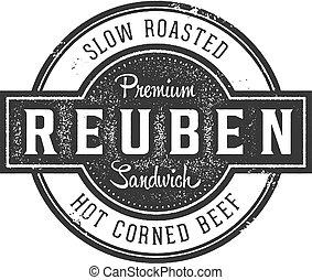 Reuben Deli Sandwich Vintage Sign