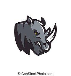 rhino mascot and e sport logo