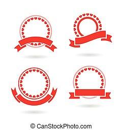 ribbon badge set