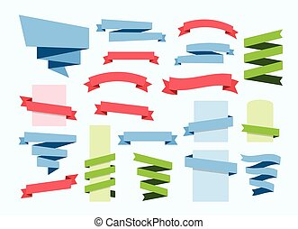 ribbon banner set vector