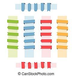 ribbon web banner set