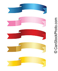 ribbons, banners