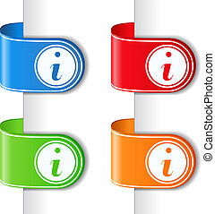 Ribbons with information symbol, vector eps10 illustration