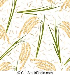 rice seamless pattern