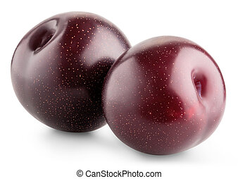 Ripe plum fruit