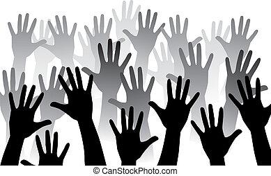 rise hand