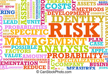 Risk Management Corporate Concept as a Abstract