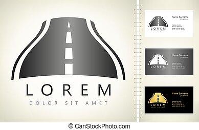 road logo vector track design